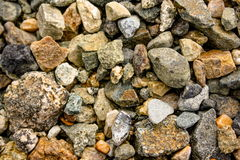 Granite rubble background texture. Stock Photography
