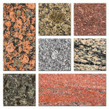 Granite samples collection Royalty Free Stock Images