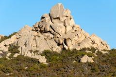 Granite in Sardinia. Granite rock on the island of La Maddalena in Sardinia Royalty Free Stock Photos