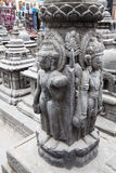 Granite Sculptures at Swayambunath, Nepal Royalty Free Stock Images