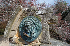 Granite sculture  in Pont Aven  village Royalty Free Stock Photos