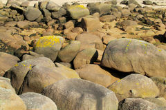 Granite sea coast rocks royalty free stock image