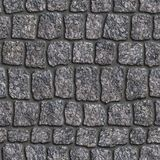Granite Sett. Seamless Tileable Texture. Royalty Free Stock Image