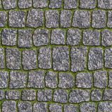 Granite Sett. Seamless Tileable Texture. Stock Photo