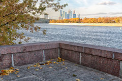 Granite ship. The granite ship of fall surely goes on waves Stock Photo
