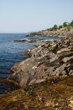 Granite shore Royalty Free Stock Images