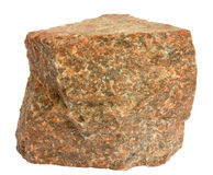 Granite. Single piece of red granite isolated on white Royalty Free Stock Images