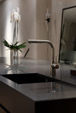Granite SInk and Stylish Faucet Royalty Free Stock Images