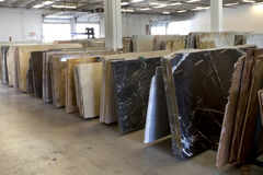 Granite Slabs. Slabs of granite in a storage warehouse. Construction Material Stock Photography