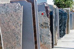 Granite slabs Stock Photo