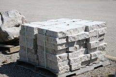 Granite Slabs of Grey Stone stock images