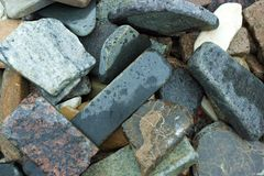 Of the granite slabs Stock Photography