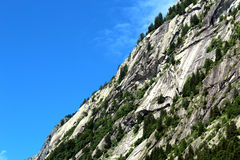 Granite slope of a mountain Royalty Free Stock Photography