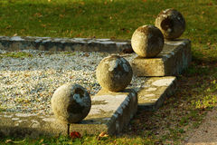 Granite spheres Royalty Free Stock Image