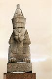 Granite sphinx in Petersburg Stock Photo