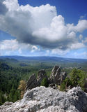 Granite Spires in the Black Hills of South Dakota Stock Photo