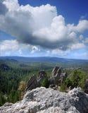 Granite Spires in the Black Hills of South Dakota. View of granite spires in the Black Hills of South Dakota Stock Photo