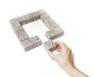 Granite Square Stock Image