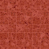 Granite square tile red and brown grunge texture seamless pattern, vector Stock Photos