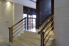 Granite stair in luxury interior Stock Images