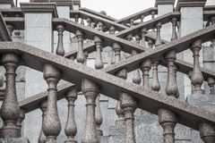 Granite staircase with beautiful carved Stock Photos