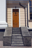 The granite staircase from the entrance door Stock Image