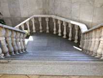 Granite staircase with marble balustrade Stock Photo