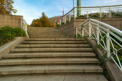 Granite stairway of an underpass Royalty Free Stock Photography