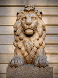 Granite statue of a lion Royalty Free Stock Photography