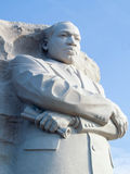 Granite Statue of Martin Luther King, West Potomac Park, Washington DC. Blue sky Royalty Free Stock Photography