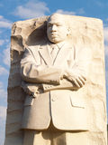 Granite Statue of Martin Luther King, West Potomac Park, Washington DC. Clouds in background Royalty Free Stock Photo