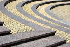Granite step on the circle Royalty Free Stock Photos