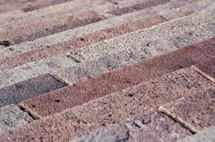 Granite steps of different shades of pink Stock Photo