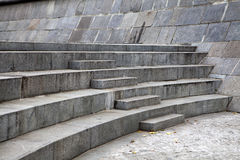 Granite steps geometry Stock Photography