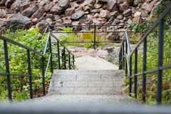 Steps down to new forms Stock Image