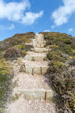 Granite steps near porthtowan Royalty Free Stock Image
