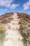 Granite steps near porthtowan Stock Photo