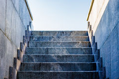 Granite steps to the sky isolated Stock Photos