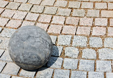 Granite stone ball Royalty Free Stock Photo
