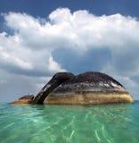 Granite stone on beach. In Belitung (Indonesia) royalty free stock image