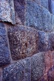 Granite stone block ancient fort  wall texture background. Granite stone block ancient fort wall texture background photo with evening light Stock Images