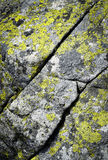 Granite stone block with slanting fissures. Background or texture granite stone block with slanting fissures Stock Photography