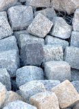Granite Stone Blocks. Natural granite stone blocks have many building applications, from simple walls to elaborate landscaping constructions that approach works Stock Photography