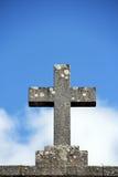 Granite stone cross Royalty Free Stock Images
