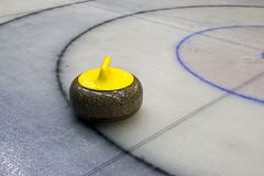 Granite stone for curling game Royalty Free Stock Photography