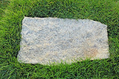 Granite Stone with Grass Border Stock Image