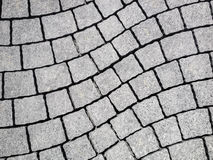 Granite stone new pavement Stock Image