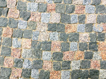 Granite stone pavement texture background Royalty Free Stock Photography