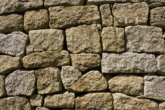 Granite stone wall Stock Photography