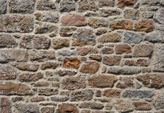 Granite stone wall. Of traditional cottage in south Devon Royalty Free Stock Photos